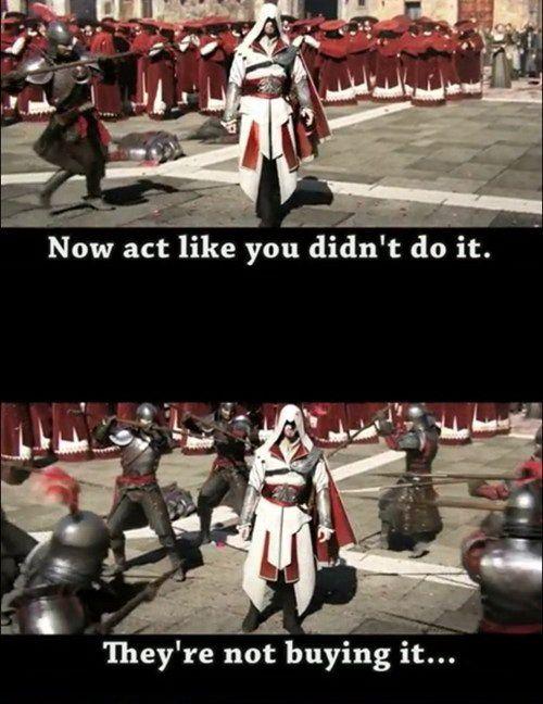 Assassins cReed brotherhood Ezio didn't do it.