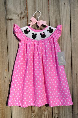 Kelly's Korner: Smocked Mickey Mouse Dress and/or Longall - for Julee and Preslee