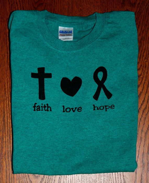 Ovarian Cancer Awareness Teal Screen by HopeForACureDesigns, $26.00