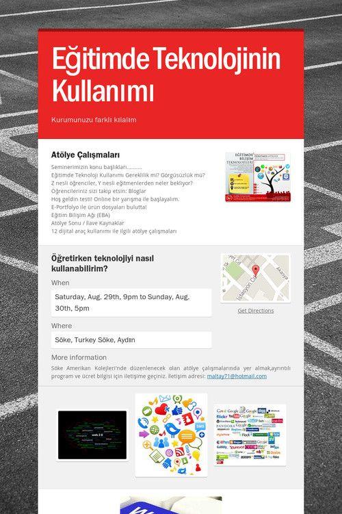 Help spread the word about Eğitimde Teknolojinin Kullanımı. Please share! :)
