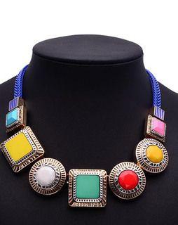 Block Multicolored Necklace