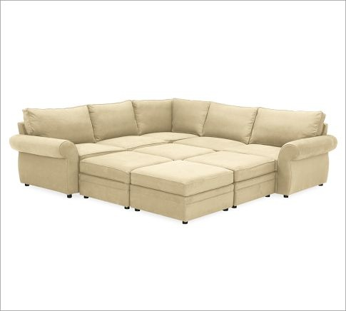 my dream couch in a movie room