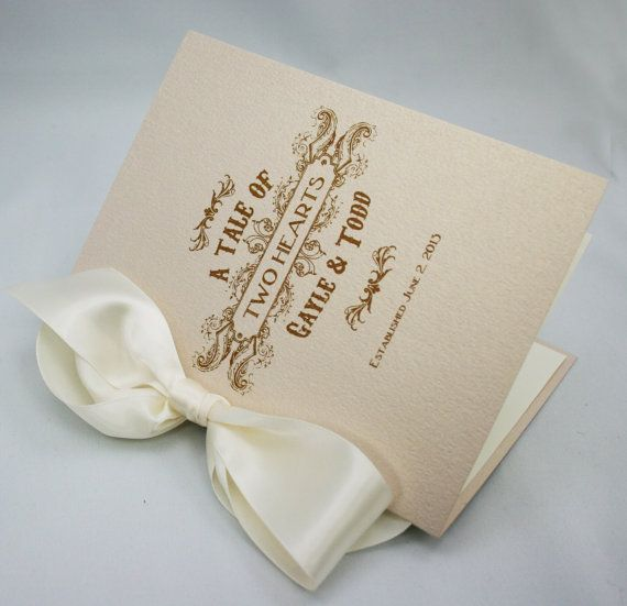 Vintage Book Style Wedding Ceremony Program By Paperstudioca 650