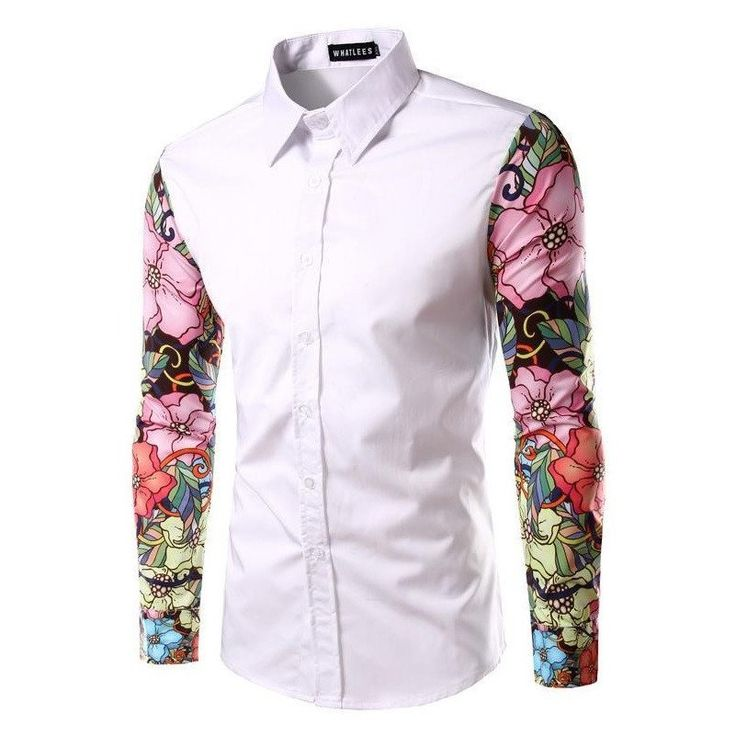 Harajuku Urban Floral Dress Shirt (3 colors)