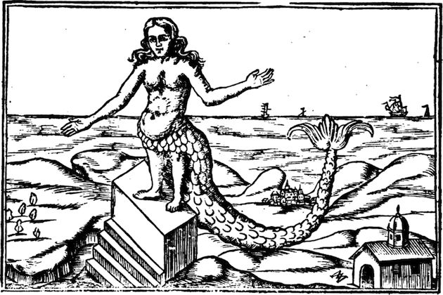 """In ancient Syrian (~ 1000 BC), there was a goddess who went by the name of Atargatis. She was a fertility goddess whose cult eventually spread to Greece and Rome and was associated with water (especially lakes) and fish. Often depicted in mermaid form, Atargatis is perhaps the """"original"""" mermaid. Legend has it that she dove into a lake to become a fish, but only her bottom half was transformed."""
