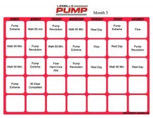 Les Mills Pump Workout Calendar | Print A Workout Calendar