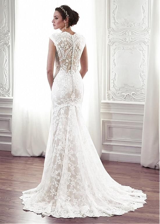 30 Best Lace Wedding Dress Covered Back Images On Pinterest - Covered Back Wedding Dress