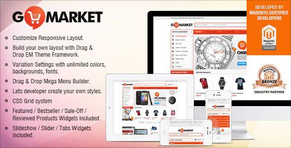 Gala GoMarket - Supermarket vs. Simple Store Theme (Magento)