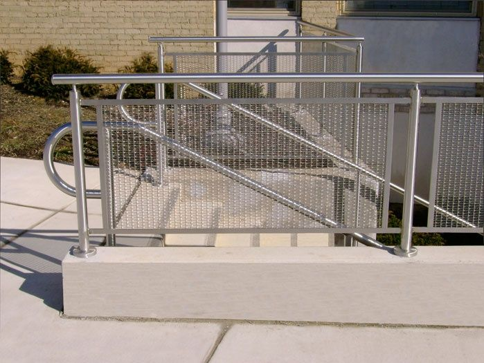 Best woven wire metal railing examples images on