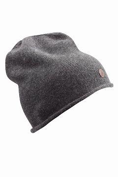 Áhkká Mørk gråmelert Lue Beanie Single knit