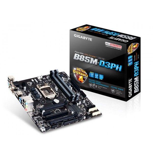 PLACA MAE LGA 1150 INTEL SERIE 8 GIGABYTE GA-B85M-D3PH MATX DDR3 1600MHZ CHIPSET B85 HDMI USB3.0 PPB