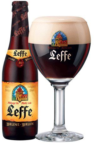 Brown Leffe Beer, Abbey Notre-Dame of Leffe in Dinant, Belgium