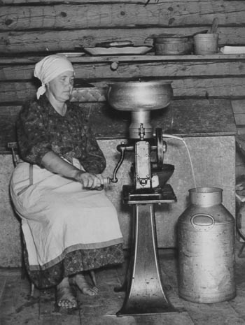 I can still remember doing this job, running a cream separator