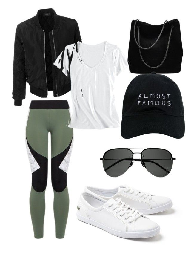 """""""Workout chic"""" by laimageclothing ❤ liked on Polyvore featuring Charli Cohen, Gucci, LE3NO, Lacoste, Horny Toad, Yves Saint Laurent and Nasaseasons"""
