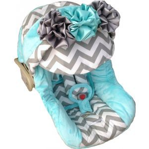 if i ever have a girl... wish this was pink... Baby Gabby Infant Carseat Cover - SO GIRLY, but not pink!