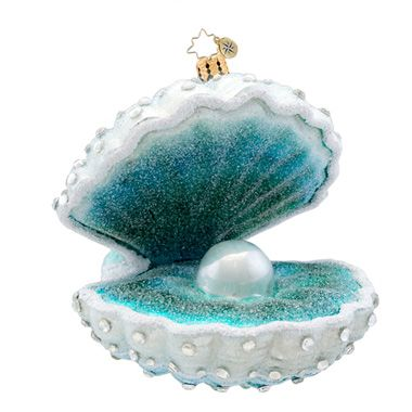 Christopher Radko Ornaments | Radko Clam Shell Ornament Treasure Keeper 1017282
