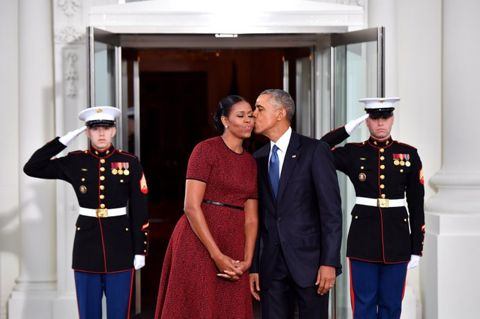 President Obama and first lady Michelle Obama January 2017