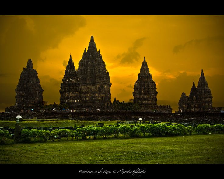 Prambanan in the Rain by Alexander Ipfelkofer on 500px      Prambanan is the biggest hindu temple complex in Indonesia, approx. 18km from Yogyakarta, built around 850.