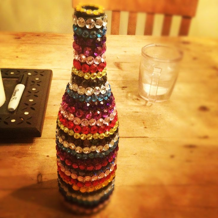1000 images about bedazzled booze bottles and other diy for Wine bottle arts and crafts
