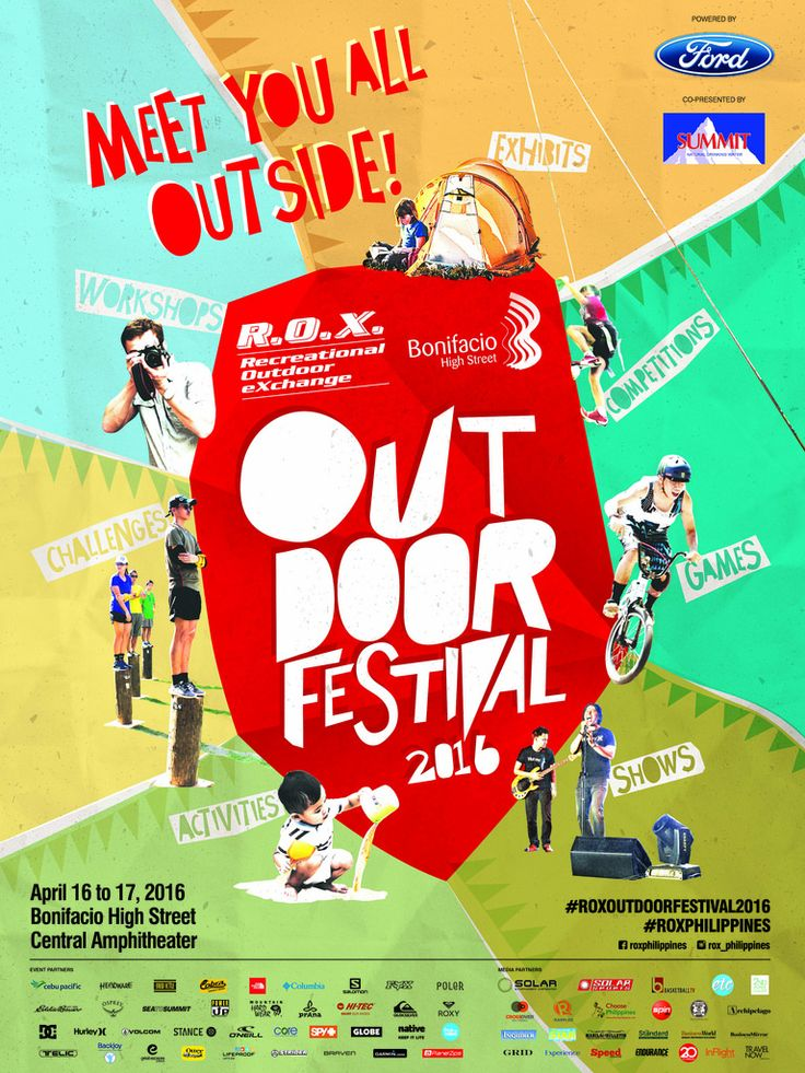 The Great Outdoors came to BGC with the R.O.X. Outdoor Festival 2016 « Franc Ramon
