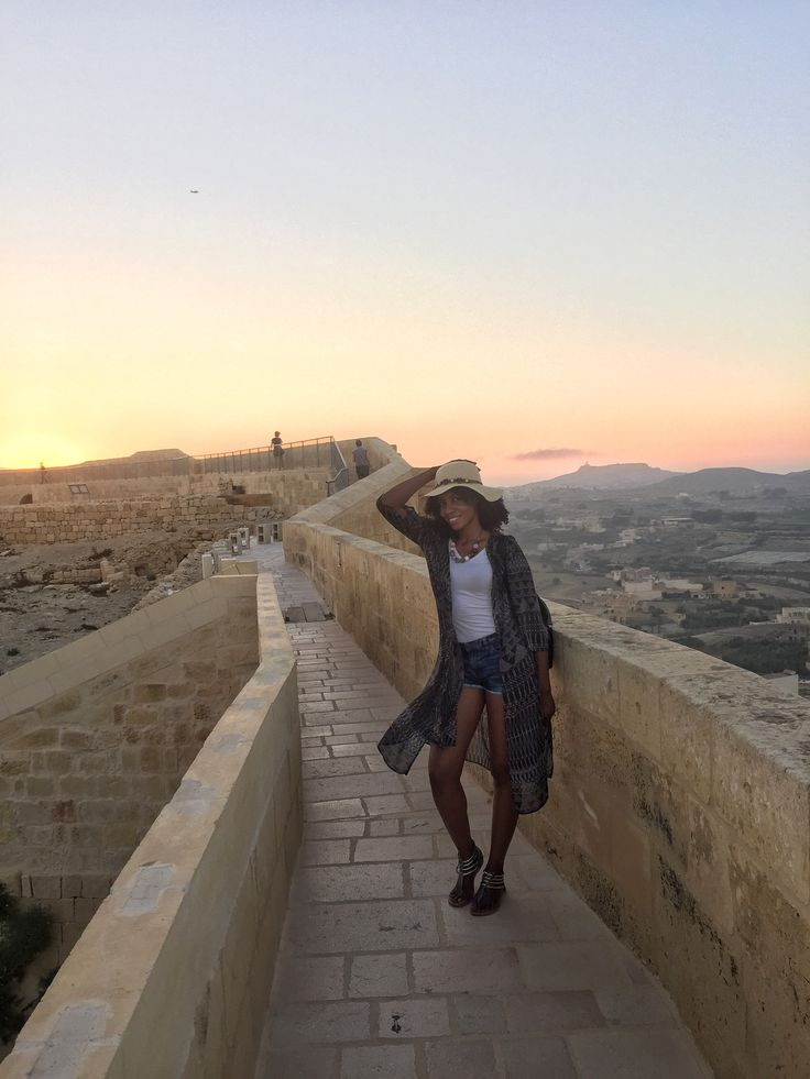 A beautiful sunset at Citadella on the Maltese island of Gozo. Walking around where some of the Game of Thrones scenes were shot