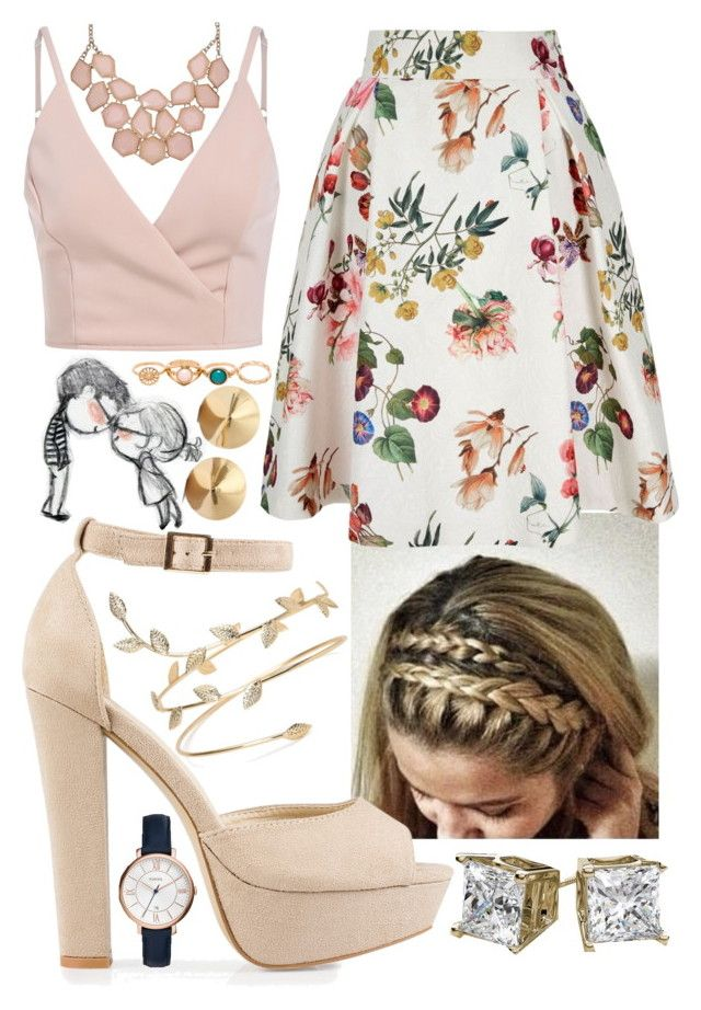 """Dirty Blonde"" by blom-sofie on Polyvore featuring Yumi, Nly Shoes, FOSSIL and Eddie Borgo"