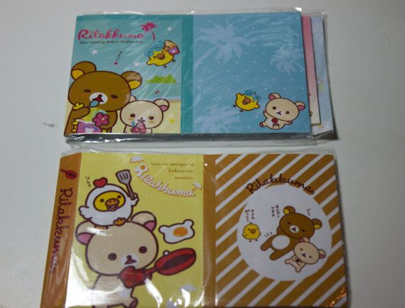 Rilakkuma Sticky Notes - Post It notes - Page Markers - Page Flags - Pastel page flags - Memo Notes    Brand new, unopened packets.    2
