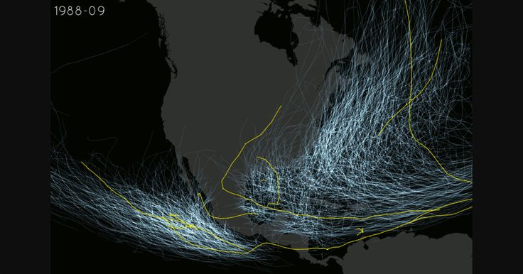 THIS MAP SHOWS YOU EVERY HURRICANE'S PATH IN THE US OVER THE LAST 100 YEARS