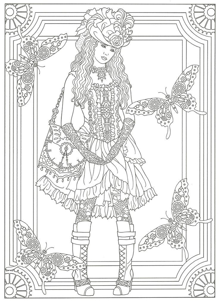 41 best images about Coloring Steampunk on Pinterest Dovers