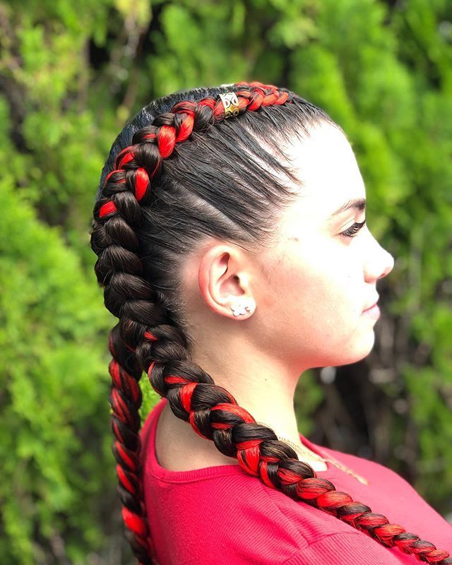 New The 10 Best Braid Ideas Today With Pictures Fire Red Braidsbydayii Braidsmiami Braid Braids With Extensions Dutch Braid Dutch Braids Short Hair