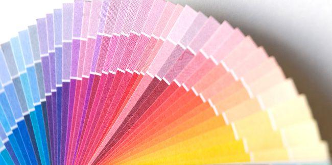 Farbfächer zur Farbwahl - nicht von Pantone. Aus einem Artikel über Unterschiede in der Farbwahrnehmung bei Männern und Frauen.