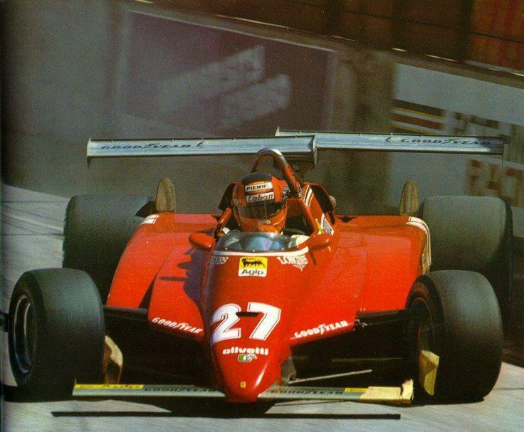 1982, VIII Grand Prix of Long Beach. Long Beach. Gilles Villeneuve on the edge in the Ferrari 126C2