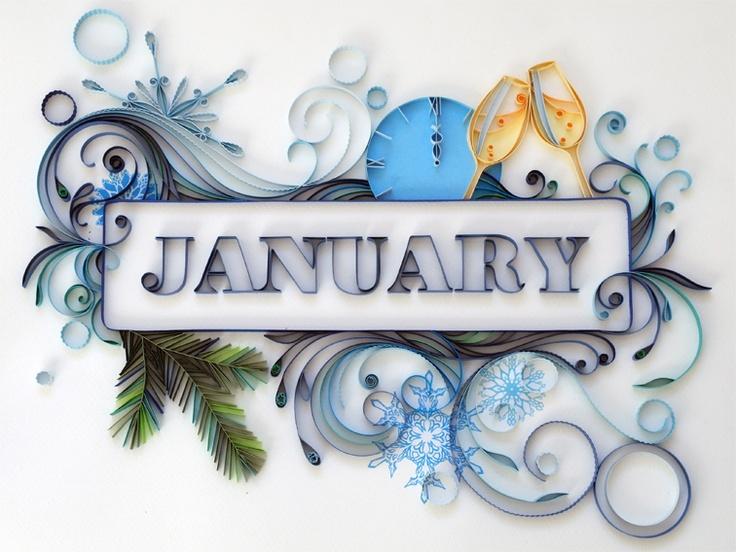 Calendar Wallpaper Quilling : Best hello january ideas on pinterest