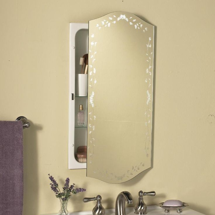 Venetian Eclipse Polished Mirror Recessed Metal Bathroom Medicine Cabinet    8210
