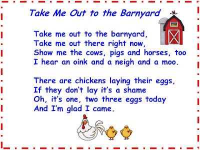 """Song, """"Take Me Out to the Barnyard"""" (free)"""