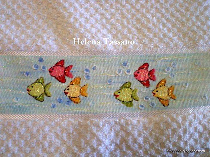 Helena Tassano manuales, pintura sobre tela, clases de pintura, pintura en lienzo: toalla de mano pintada