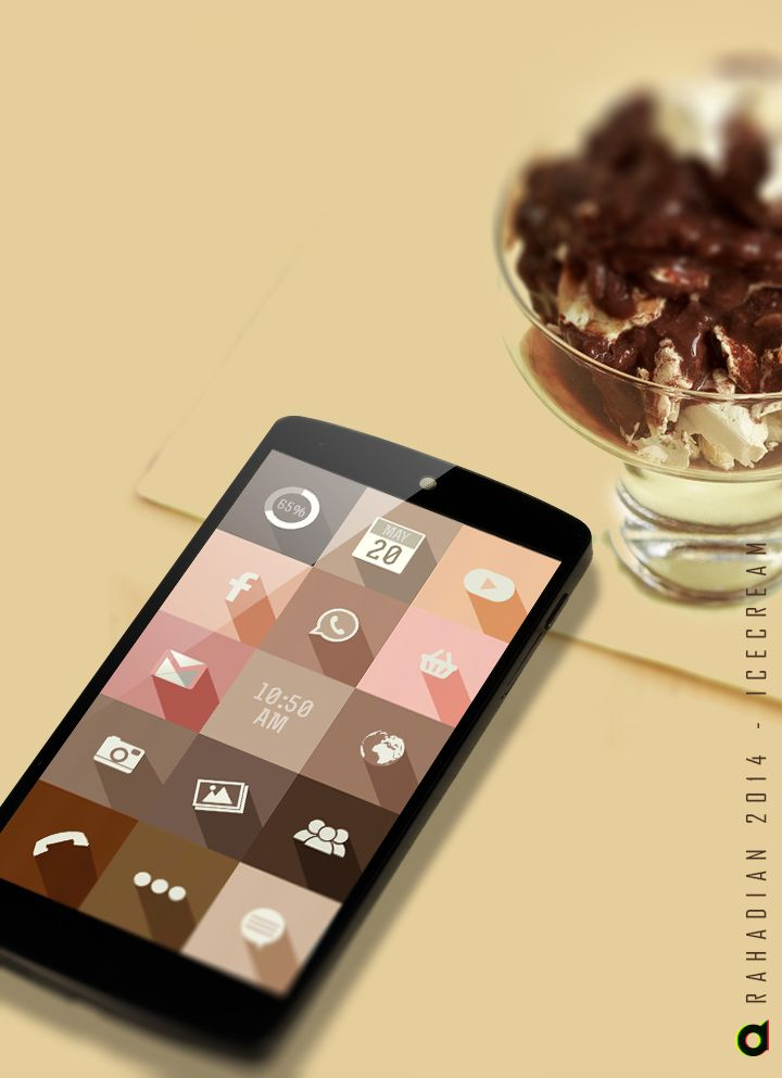 Ice cream Android Homescreen by dionrahadian - MyColorscreen