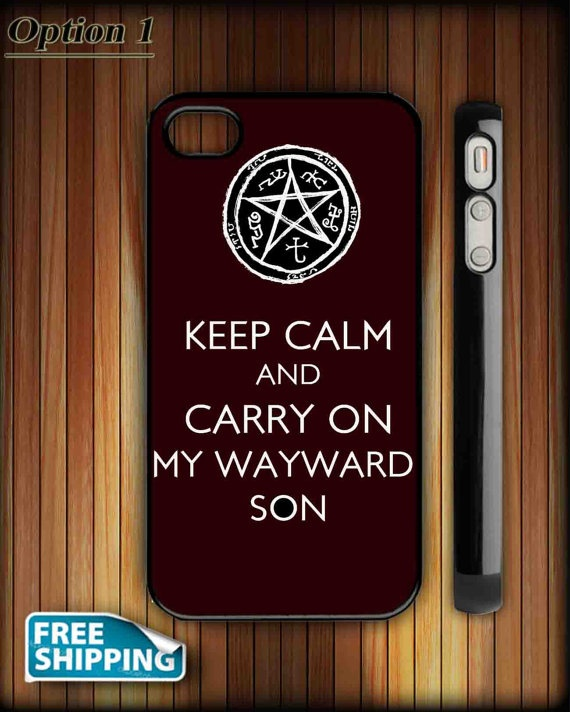 iPhone Case  Supernatural Keep Calm On Carry On by HALLELUJAH3SHOP, $20.90