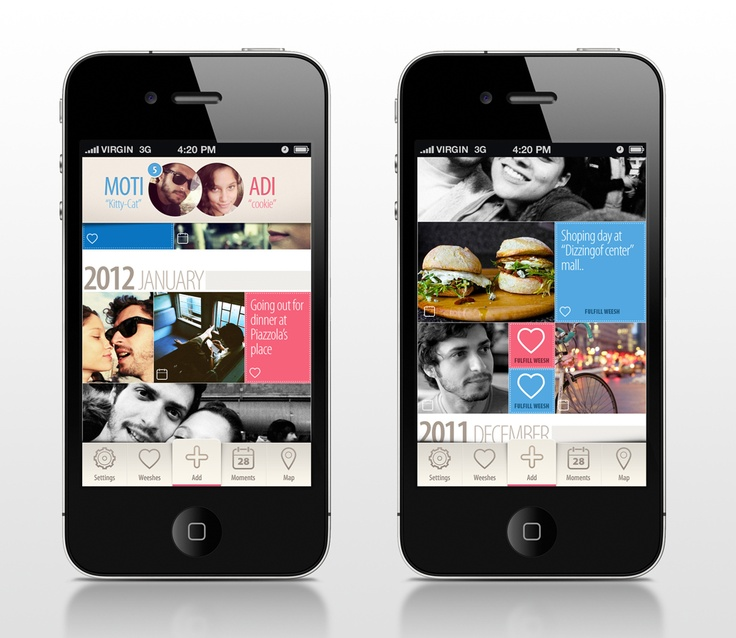 Mobile Interface Design for Weesh App