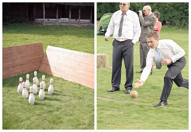 Lawn games are a great addition to a wedding!