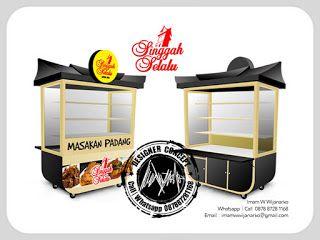 Desain Logo   Logo Kuliner    Desain Gerobak   Jasa Desain dan Produksi Gerobak   Branding: Desain Gerobak Padang Singgah Selalu