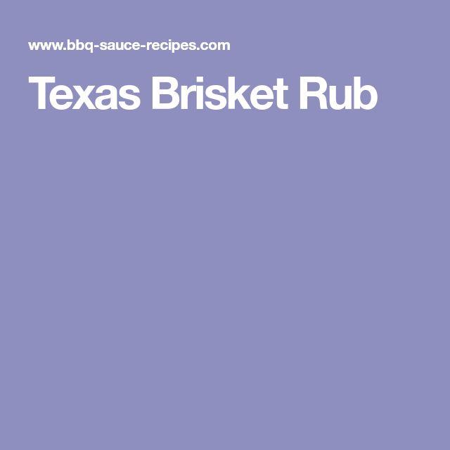 Texas Brisket Rub