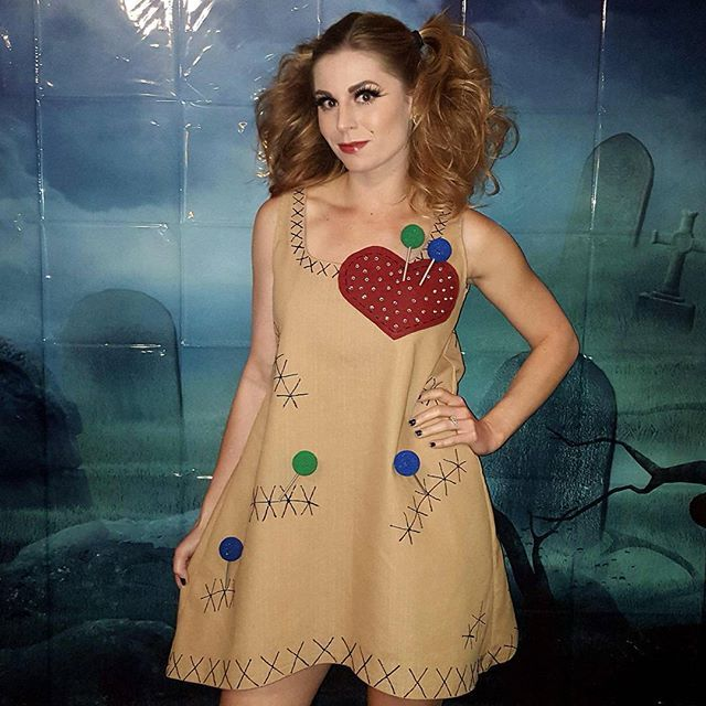 Pin for Later: 70 Mind-Blowing DIY Halloween Costumes For Women Voodoo Doll