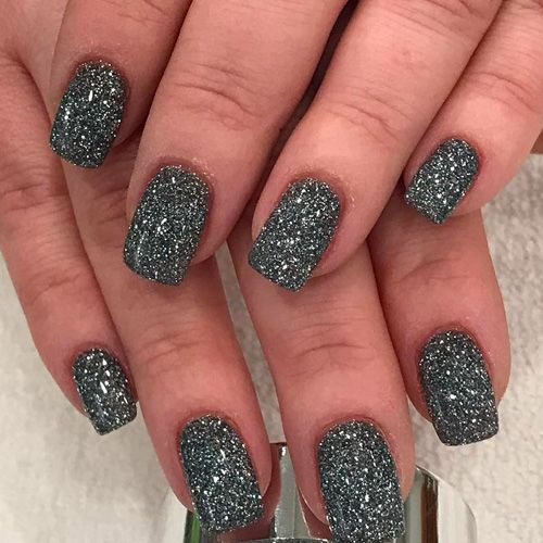 Silver Dipping Powder Sparkling Nails - Best Nail Art
