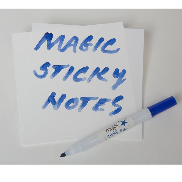 Magic Whiteboard Magic Sticky Notes - Pad - 50 Mini Whiteboard Sheets