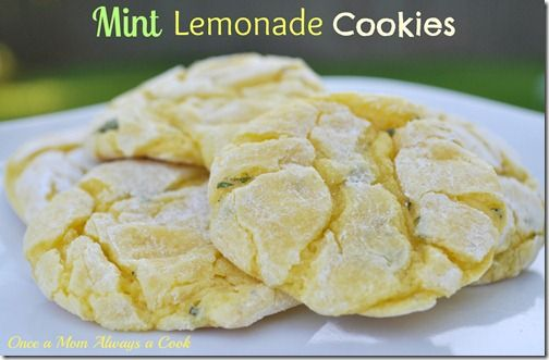Mint Lemonade Cookies! YUM!