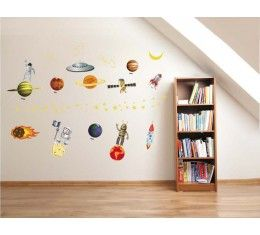Planets wall sticker available at www.kidzdecor.co.za. Free postage throughout South Africa