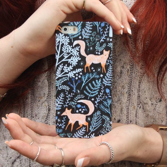 Foxes Playing in the Forest iPhone Case for iPhone 5 5S, 4 4S & iPhone 6