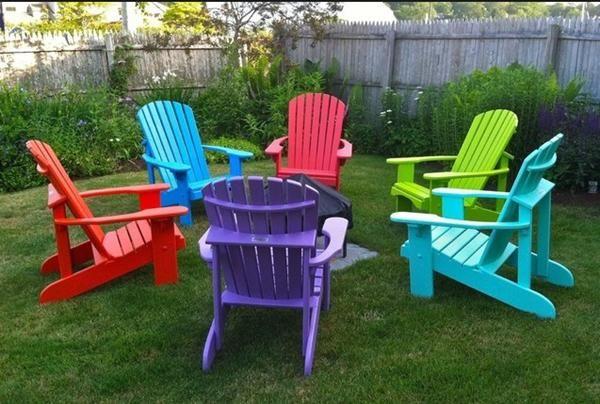 Colorful Plastic Adirondack Chairs