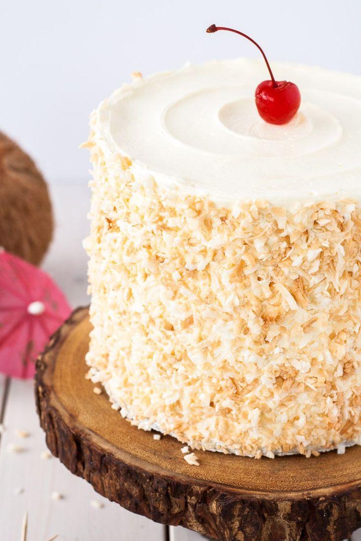 Pina Colada Cake | Recipe | Beautiful, Pina colada cake ...
